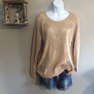 Sz XL Market & Spruce Tan Sweater
